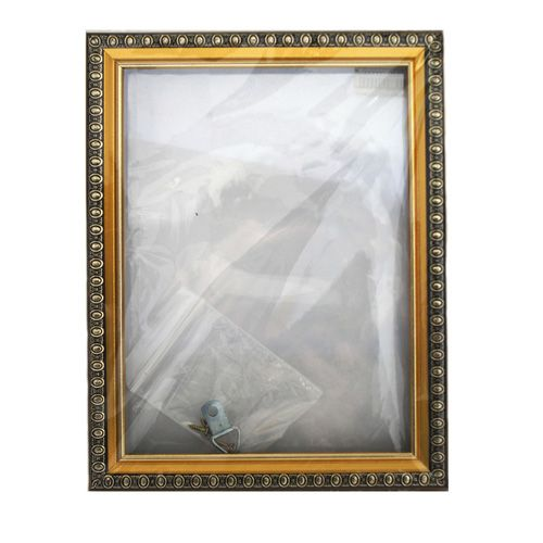 RAM111005 - рама без стекла с прозрачным дном 13*18см, цв.золото