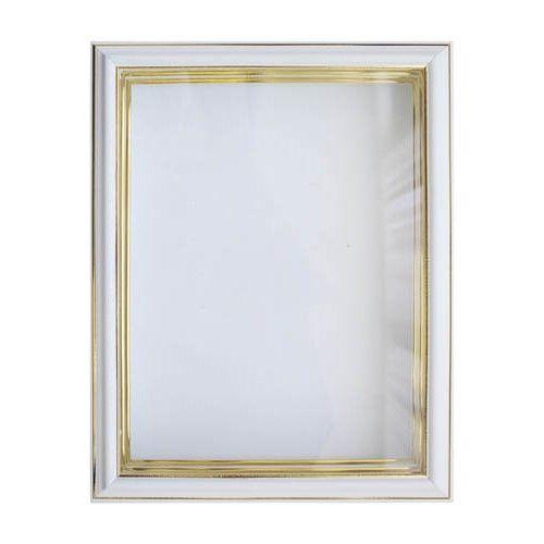 RAM111031 Рама (аквариум) глубокий багет со стеклом с прозрачным дном, молоко, 18*24 см