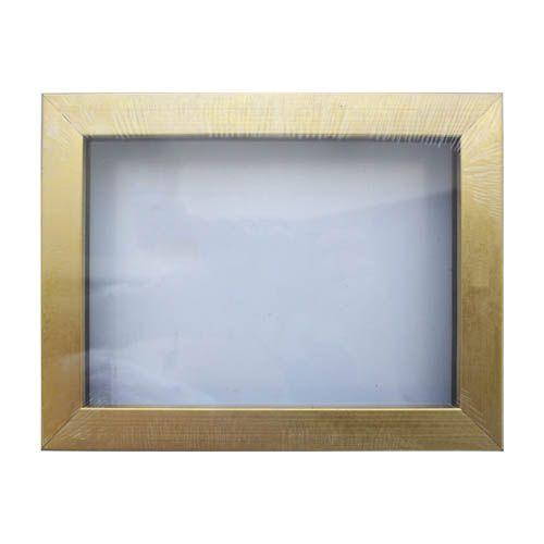 RAM111017 Рама (аквариум) глубокий багет со стеклом с прозрачным дном, матовое золото, 13*18 см