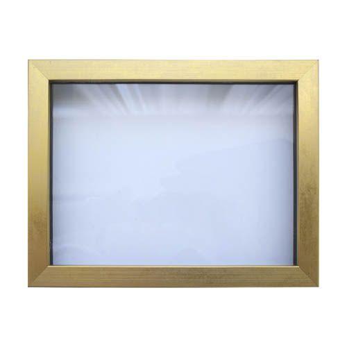 RAM111018 Рама (аквариум) глубокий багет со стеклом с прозрачным дном, матовое стекло, 18*24 см