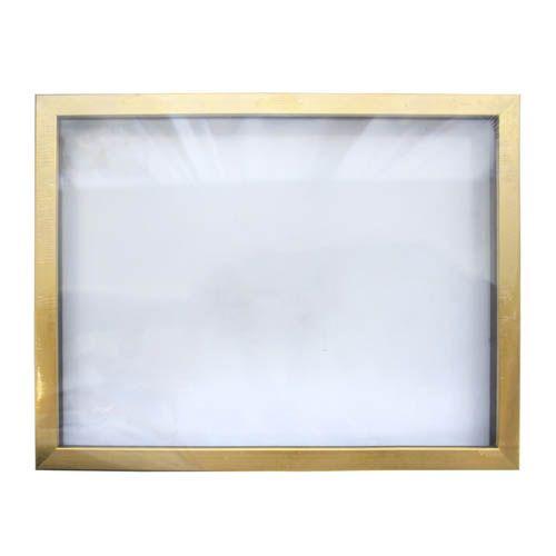 RAM111020 Рама (аквариум) глубокий багет со стеклом с прозрачным дном, матовое золото, 30*40 см
