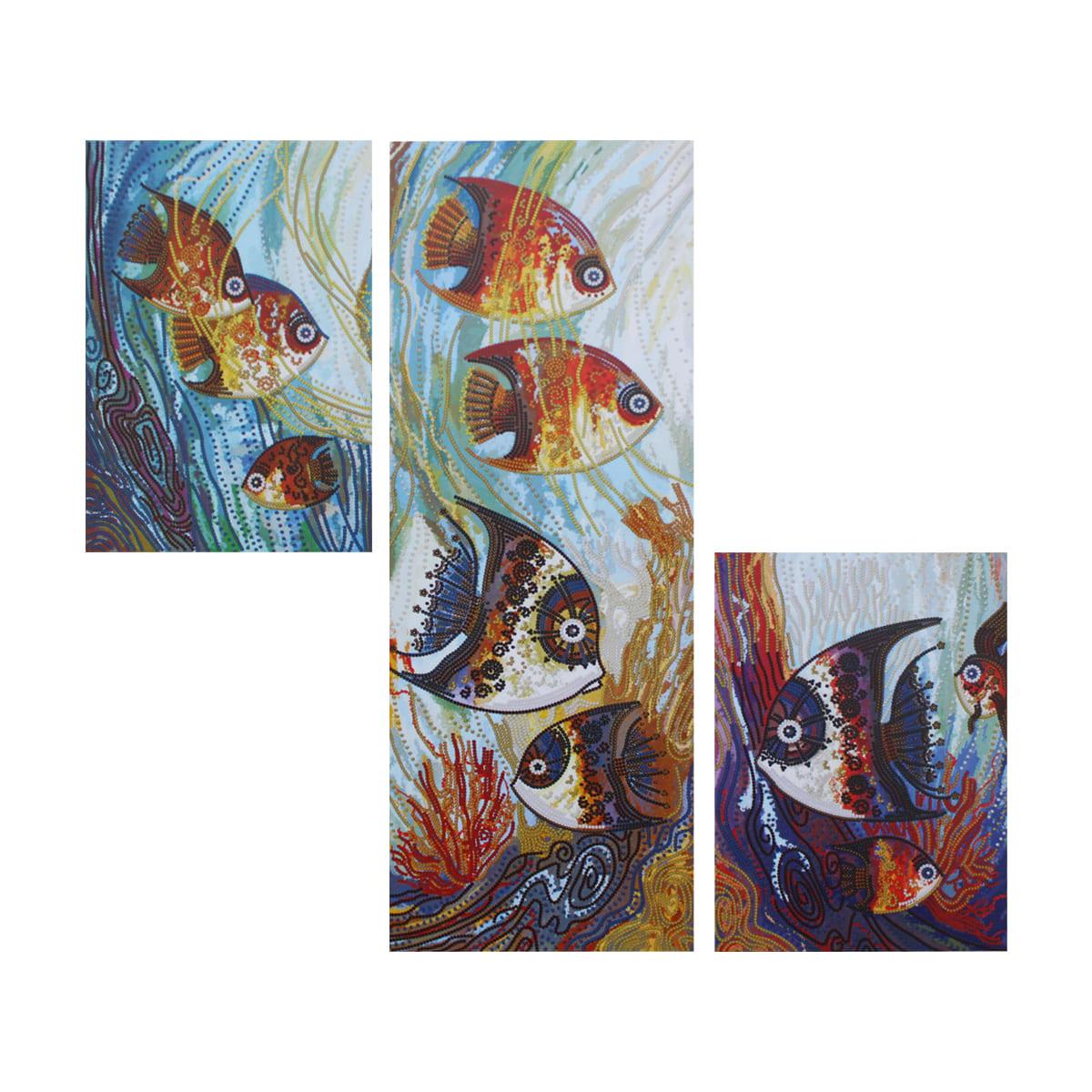 ДК6575 Набор для вышивания бисером 'Нова Слобода' 'Морское царство' 1 часть18x50 см, 2 части 18х25 см