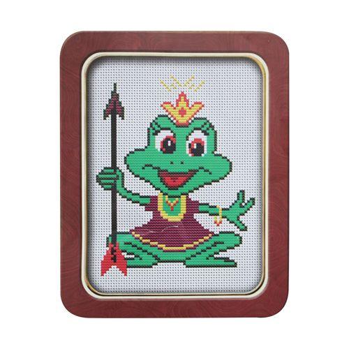 013 Набор для вышивания Lutars 'Царевна-лягушка', 14х18 см