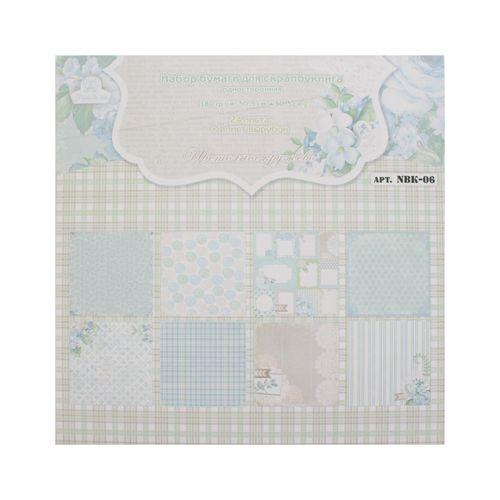 NBK-06 Набор бумаги для скрапбукинга 'Цветочное кружево', 180 г/м2, 30,5*30,5 см, односторонняя, упак./24 листа