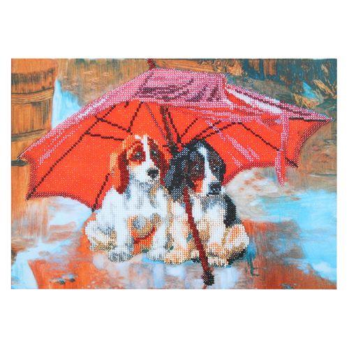 БН-3170 Набор для вышивания бисером Hobby&Pro 'Укрытие от дождя', 34*25 см