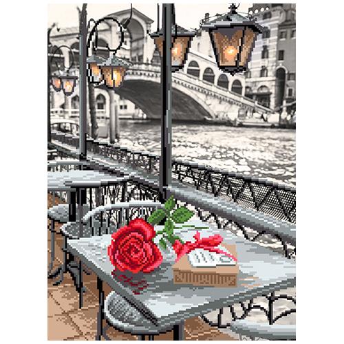0122/Б Набор для вышивания 'Матренин Посад' 'Венецианское кафе', 26х35 см