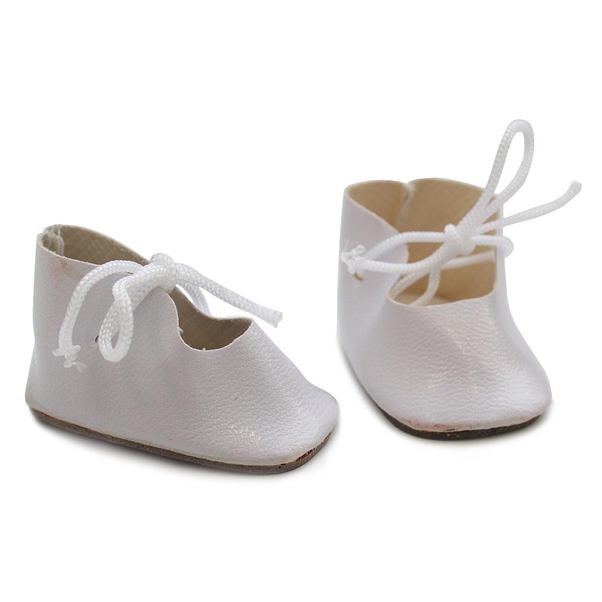 Ботиночки для кукол 4,5см*2 пары, белые