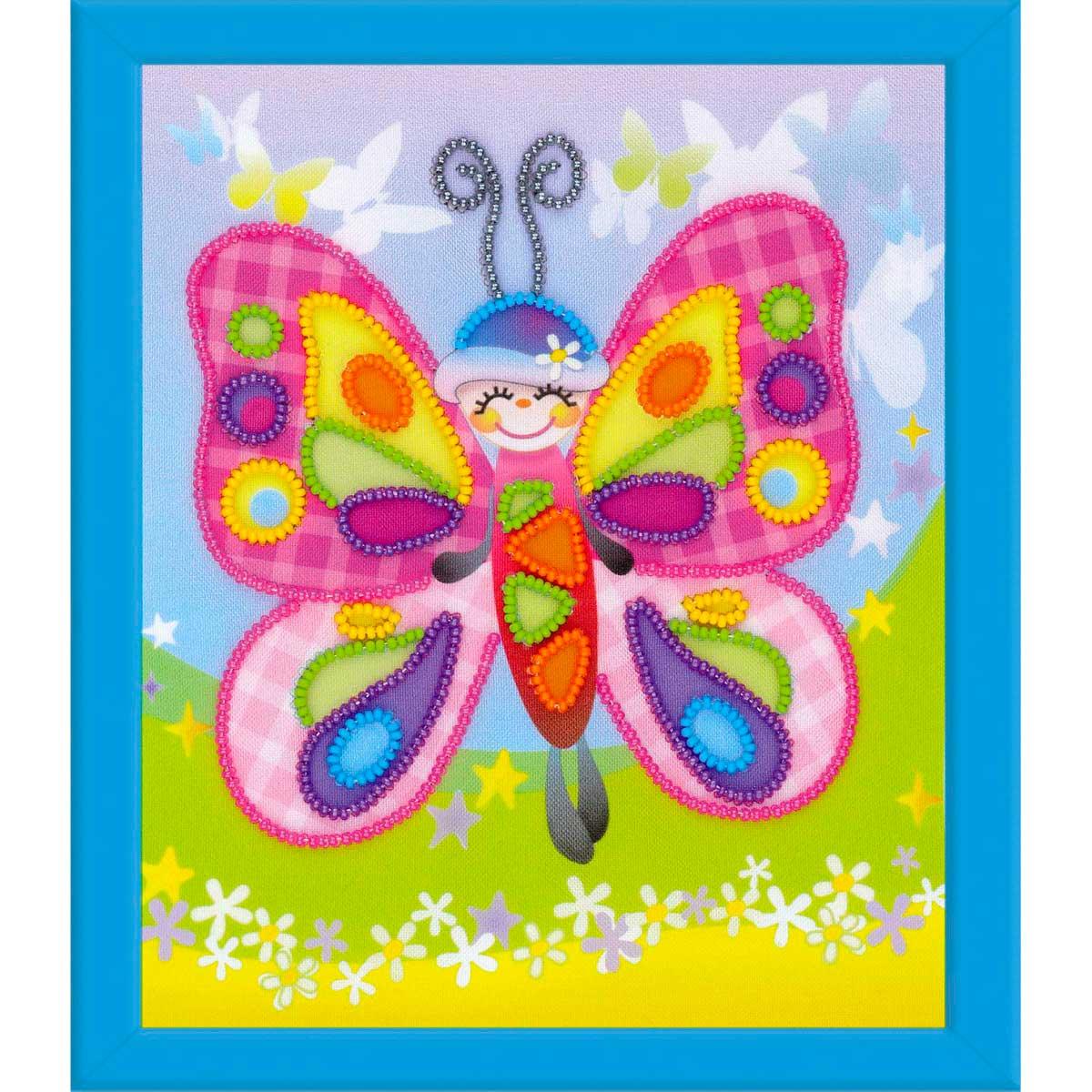 РТ-0061 Частичная вышивка Riolis 'Сказочная бабочка', 15*18 см