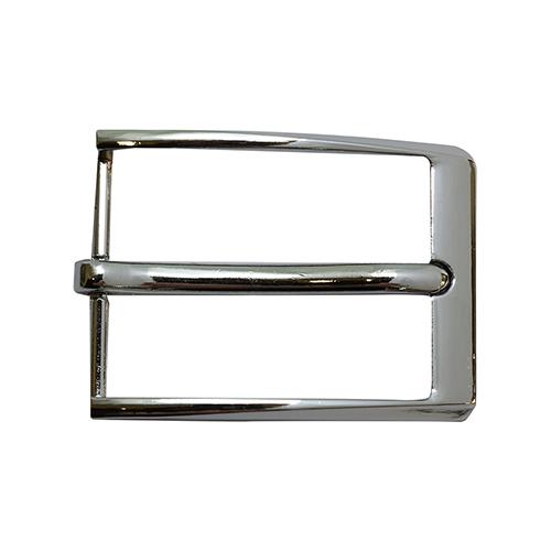 22434 Пряжка 283 мужская на ремень 35 мм, серебро