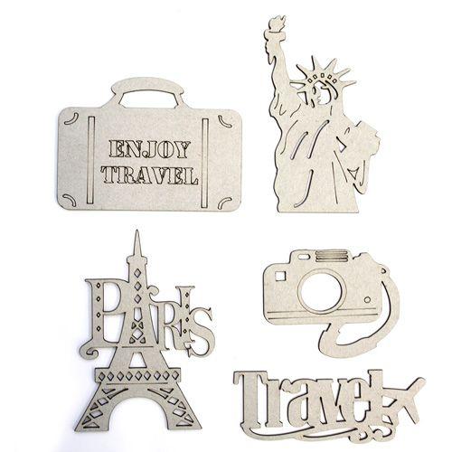 ВК-38 набор декоративных элементов 'Путешествия' (5шт) Астра