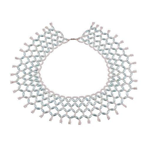 БП-103 Набор для бисероплетения Hobby & Pro pearl Ожерелье 'Голубой воротничок'