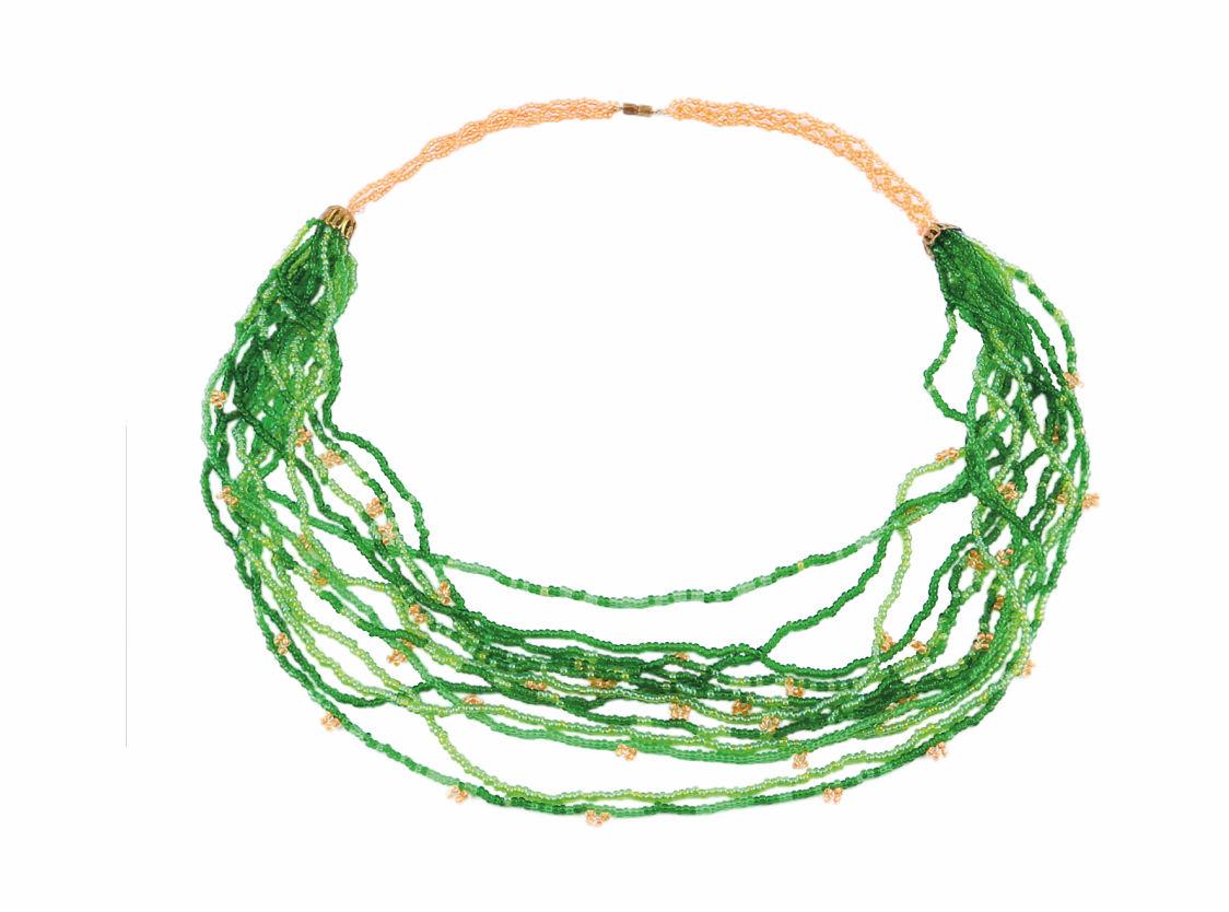 БП-109 Набор для бисероплетения Hobby & Pro pearl Бусы 'Зеленые нити'