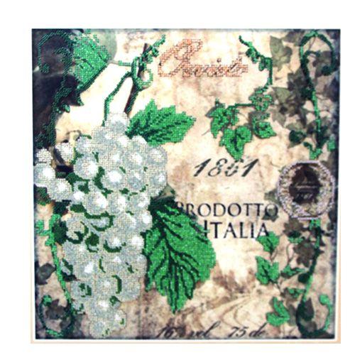 60022 Набор для вышивания бисером Astrea 'Зеленый виноград', 30х30 см