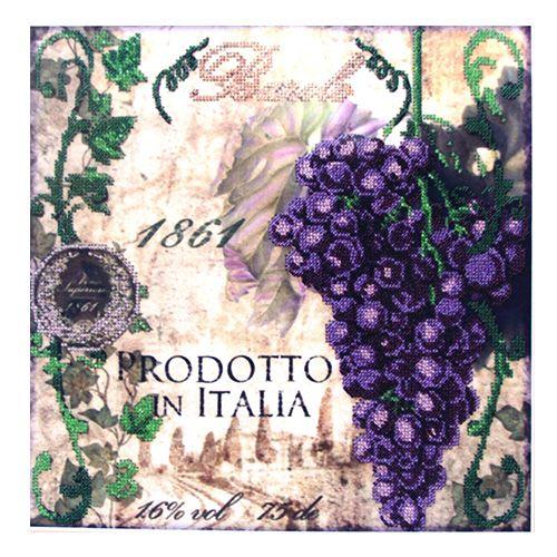 60023 Набор для вышивания бисером Astrea 'Синий виноград', 30х30 см