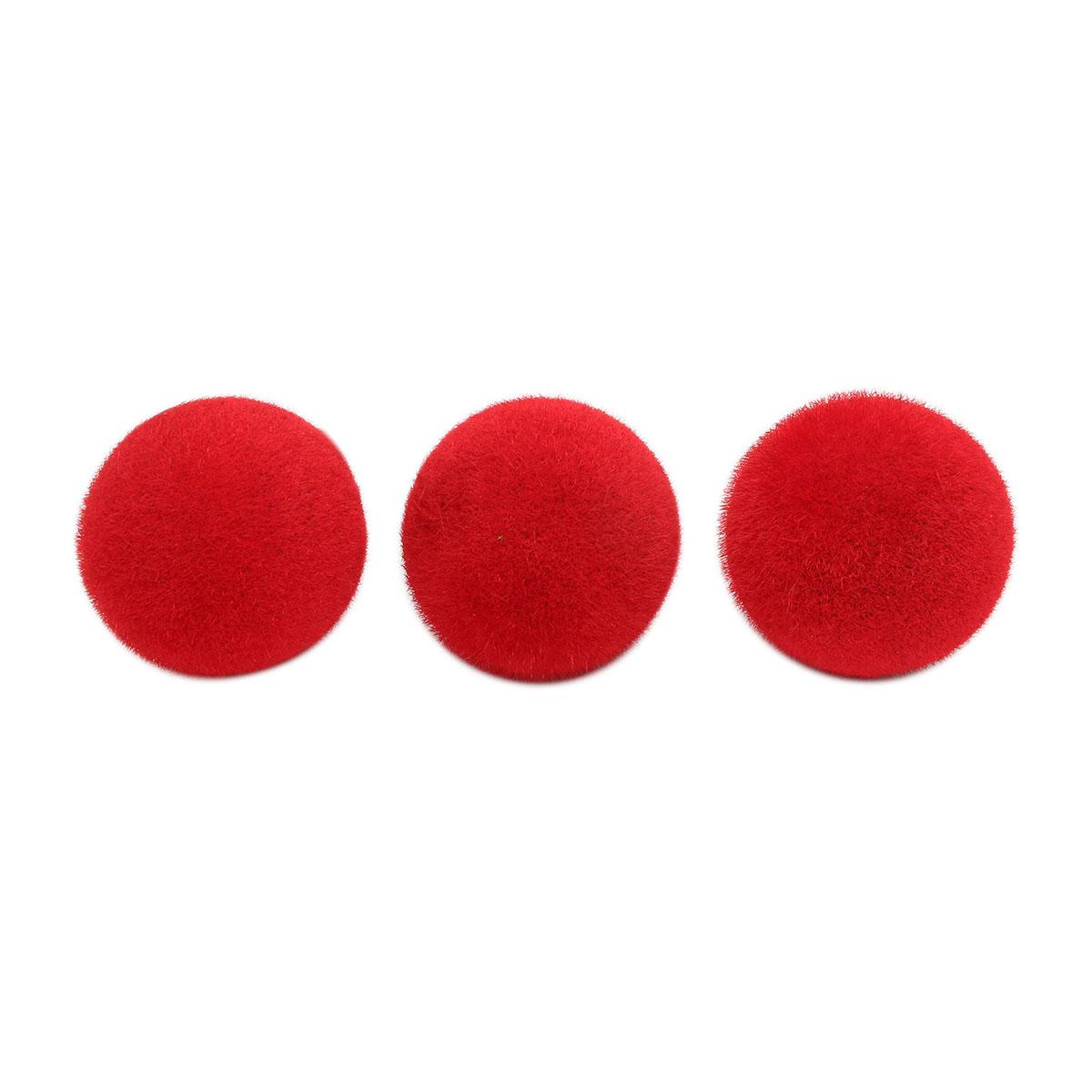 23883 Фигурка 'Шар 1', цв. красный, диам. 6,5см 3шт/упак