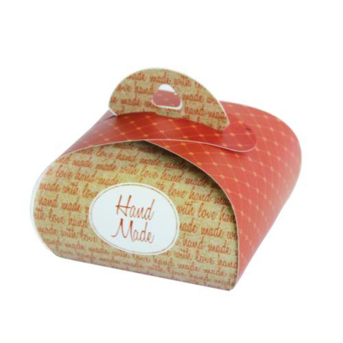 HY00911 Подарочная коробочка Бонбоньерка 'Hand Made terracotta', 2 шт/упак