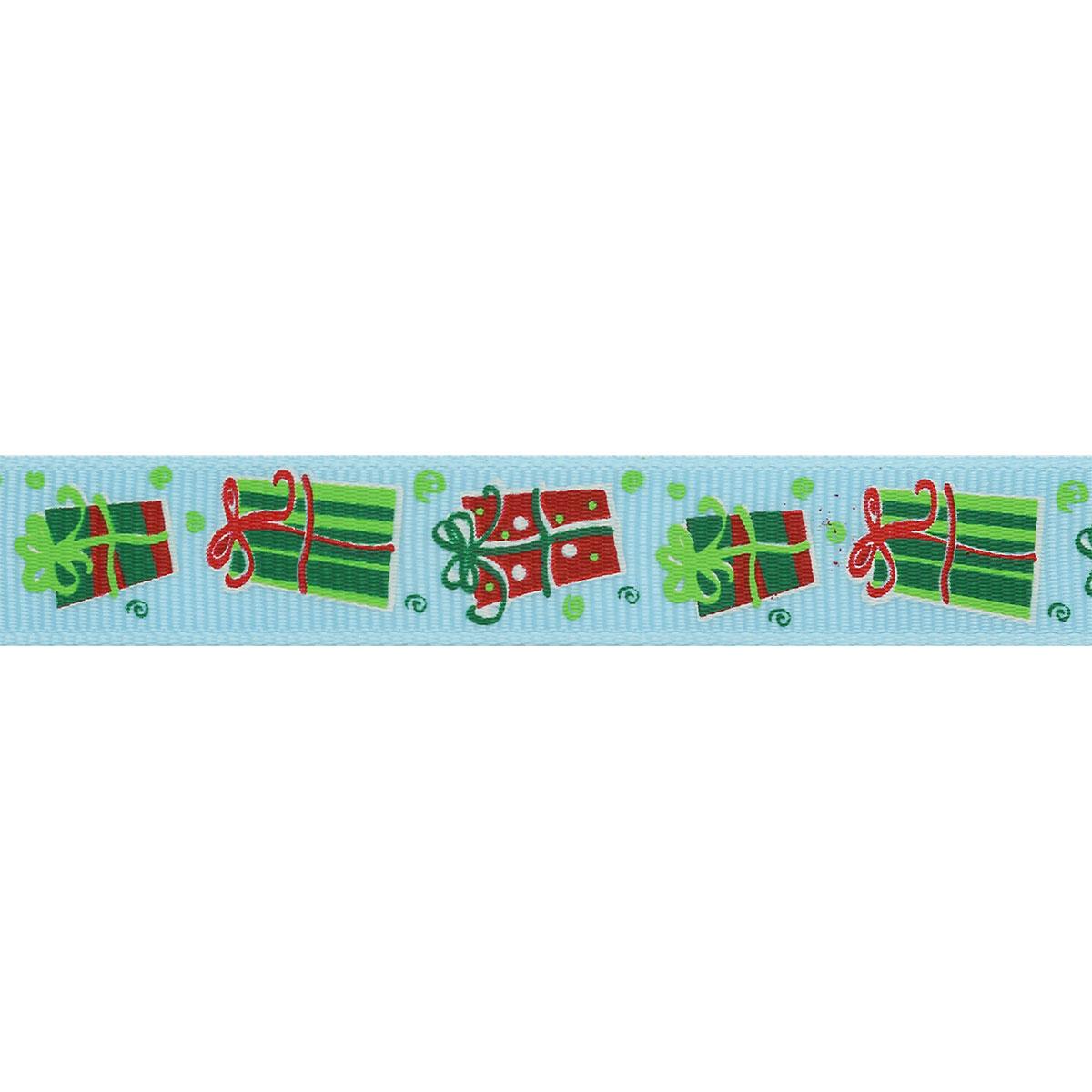 Лента репсовая 'Подарки' 1,5см*45,72м