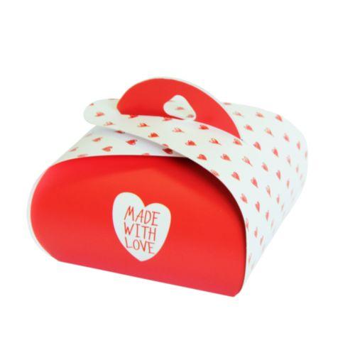 HY00915 Подарочная коробочка Бонбоньерка 'Made With Love', 2 шт/упак