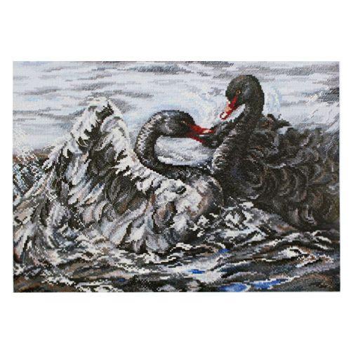 М557 Набор для вышивания RТО 'Два черных лебедя', 40х28 см