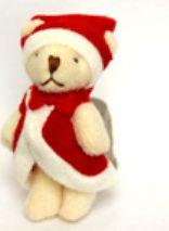 23046 Игрушка. Мишка Дед Мороз - 6,5см