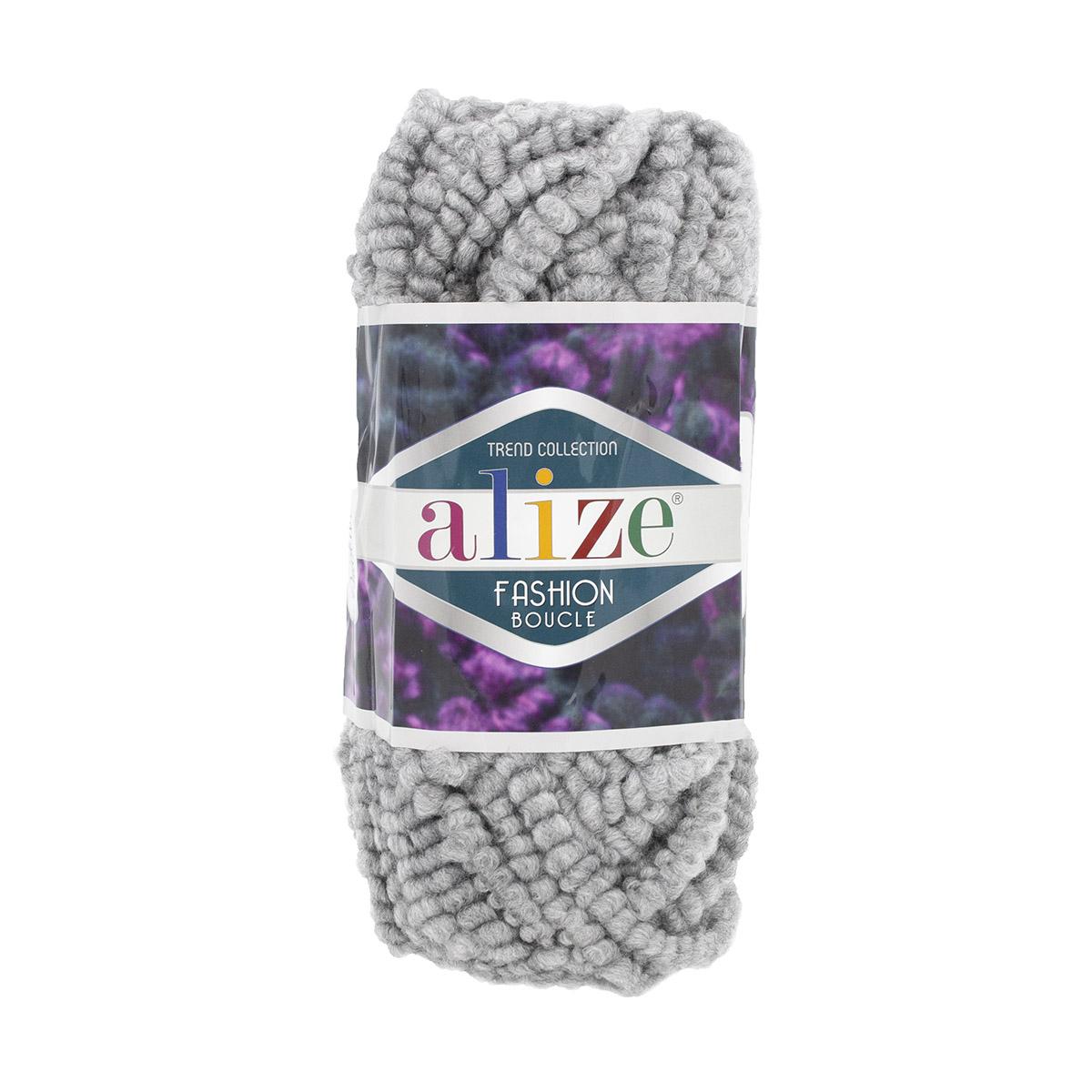 Пряжа ALIZE 'Fashion boucle' 100гр., 35м. (70%акрил, 25% шерсть, 5% полиамид) ТУ