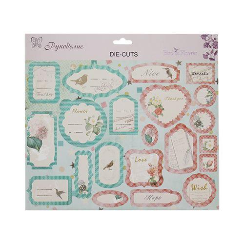 DC09 Стикеры картон 'Птицы и цветы' (Рукоделие)