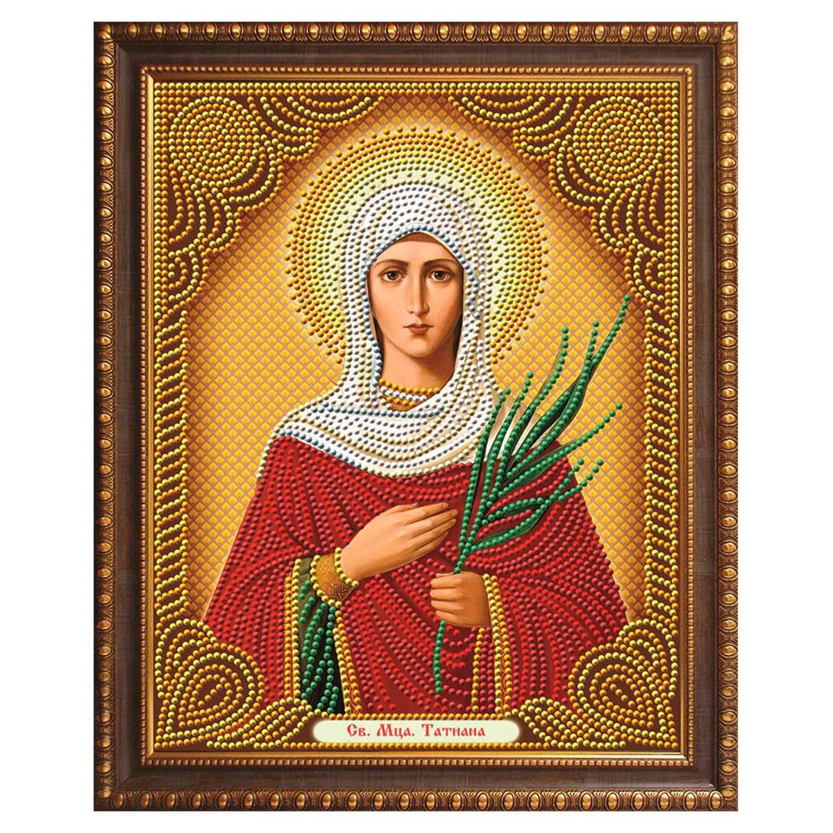 АЖ-5012 Картина стразами 'Икона Святая Татьяна' 22*28см
