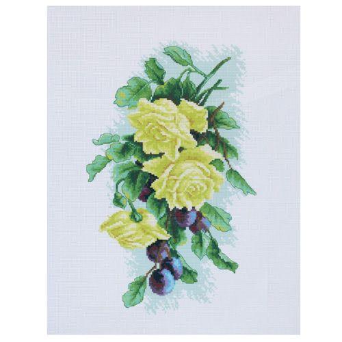 РК-203 Канва с рисунком Hobby&Pro 'Жёлтая роза' 45*35см