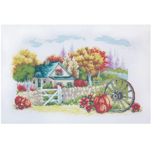 РК-214 Канва с рисунком Hobby&Pro 'Осенний домик' 45*35см