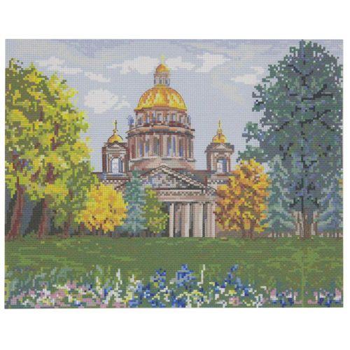 РК-216 Канва с рисунком Hobby&Pro 'Исаакиевский собор осенью '45*35см
