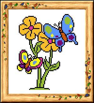 19 Набор для вышивания 'Бабочки' 18,5*20см