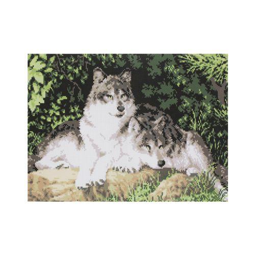 АА-018 Набор для вышивания 'Волки' 30*40см