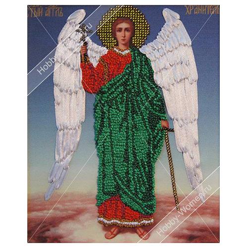 ВЛИС0010 Набор для вышивания лентами Woman-Hobby 'Ангел хранитель', 19*23,5 см