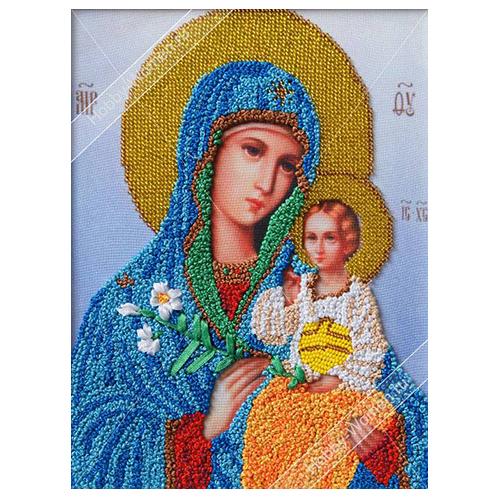 ВЛИС0005 Набор для вышивания лентами Woman-Hobby 'Богородица Неувядаемый цвет', 19,5*25,5 см