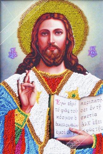 ВЛИС0001 Набор для вышивания лентами Woman-Hobby 'Христос Спаситель' 18,5*26,5 см