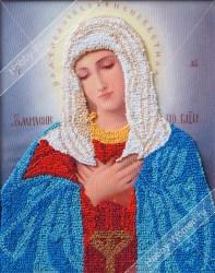 ВЛИС0006 Набор для вышивания лентами Woman-Hobby 'Богородица Умиление' 21*26 см