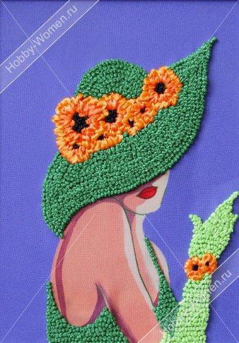 ВЛШС0005 Набор для вышивания лентами Woman-Hobby 'Серия шляпки №5' 18,5*25 см