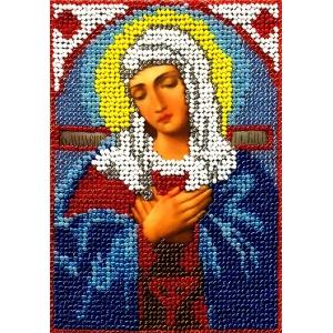 ИТМ0005 Набор для вышивания бисером Woman-Hobby 'Богоматерь Умиление' 12,5*17 см