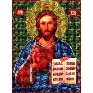 ИТМ0006 Набор для вышивания бисером Woman-Hobby 'Христос Спаситель' 12,5*17 см