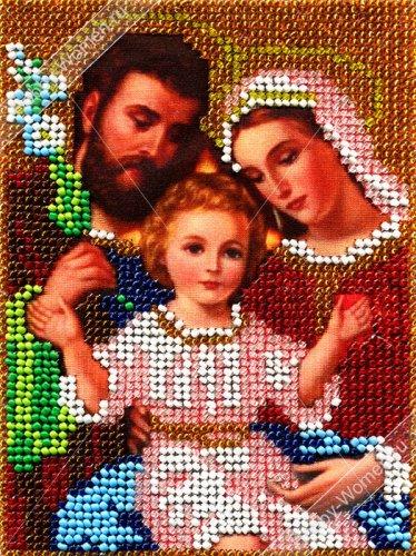 ИТМ0023 Набор для вышивания бисером Woman-Hobby 'Святое семейство' 12,5*17 см