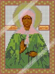 ИЧМС0002 Схема для вышивания бисером Woman-Hobby 'Матрона Московская' 12,5*17 см