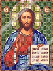 ИЧМС0005 Схема для вышивания бисером Woman-Hobby 'Христос Спаситель' 12,5*17 см