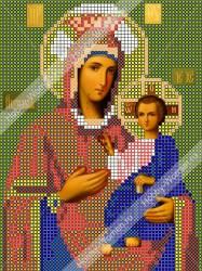 ИЧМС0009 Схема для вышивания бисером Woman-Hobby 'Богородица Иверская' 12,5*17 см