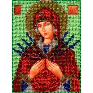 ИЧМС0019 Схема для вышивания бисером Woman-Hobby 'Богородица Семистрельная' 12,5*17 см
