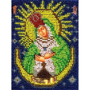 ИЧМС0020 Схема для вышивания бисером Woman-Hobby 'Богородица Остробрамская' 12,5*17 см