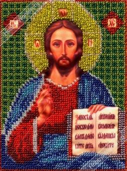 ИЧ0015 Набор для вышивания бисером Woman-Hobby 'Христос Спаситель' 6*8 см