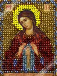 ИЧ0022 Набор для вышивания бисером Woman-Hobby 'Богородица Поможение в родах' 6*8 см