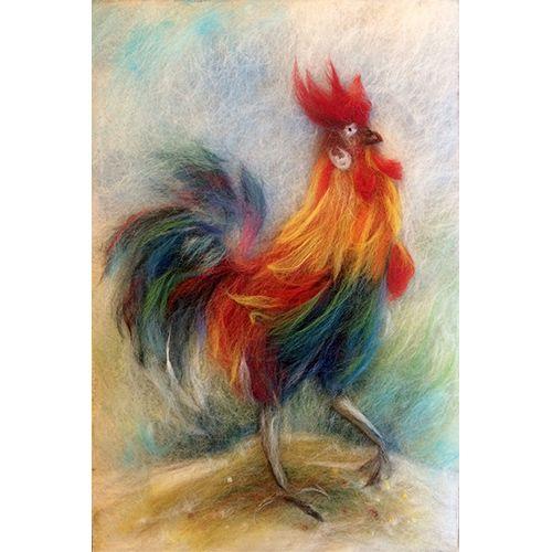 Набор для валяния (живопись цветной шерстью) 'Петя-Петушок' 21x29,7см (А4)