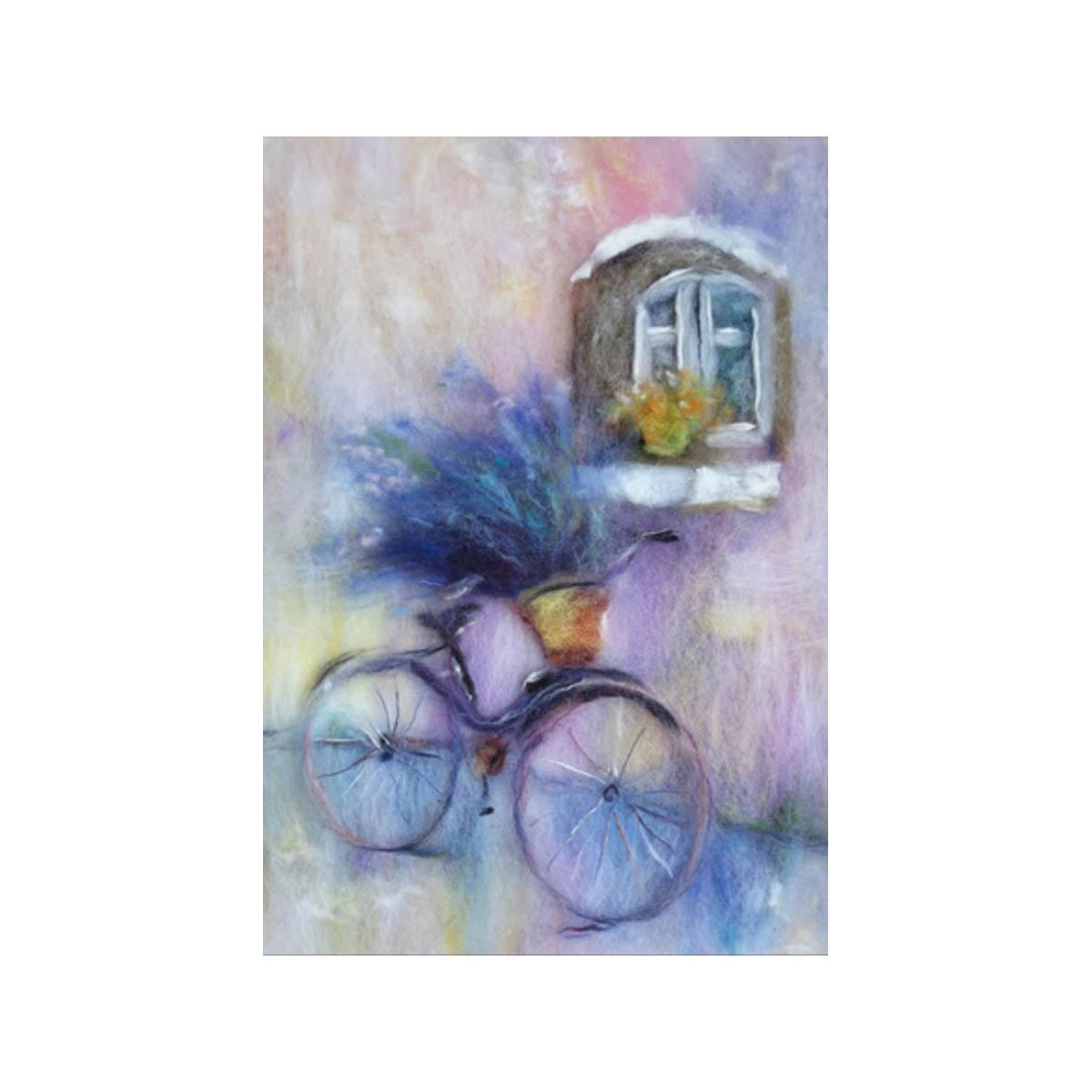 Набор для валяния (живопись цветной шерстью) 'Лаванда' 21x29,7см (А4)
