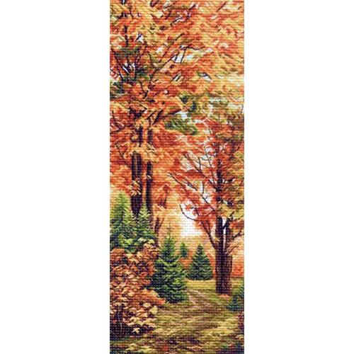 1362 Канва с рисунком Матренин посад 'Осення пора' 40*90см